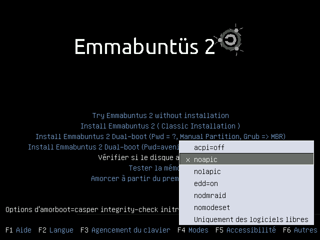 Emmabuntus GRUB Options.png